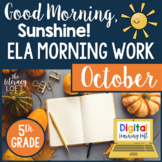 ELA Morning Work 5th Grade {October}