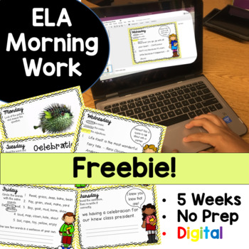 Morning Work Freebie Google Drive Digital Edition