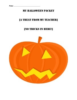 Halloween ELA Packet, Grade 3, 4, 5: 14 pages!