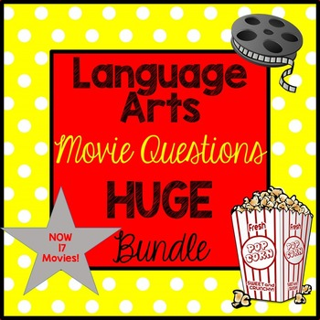 Language Arts Movie Questions HUGE Bundle! End of the Year Activities