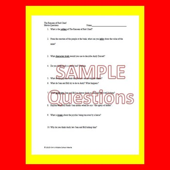 Language Arts Movie Questions Bundle End of the Year Activity