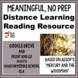 "ELA NO Prep Sub plans for Middle School ~ ""Mercury and the Woodman"""