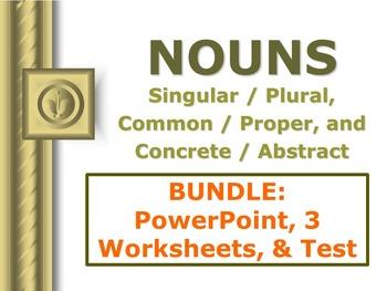ELA NOUNS Singular/Plural Common/Proper Concrete/Abstract