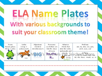 ELA Name Plate Bundle
