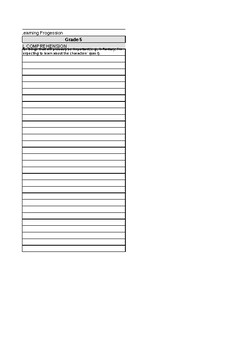 ELA Narrative Learning Progression Data Collection Excel Spreadsheet