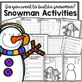 Snowman Activities for digraphs, CVC words, sight words and more!