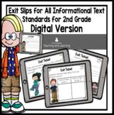 ELA {Nonfiction} DIGITAL Exit Tickets for Second Grade