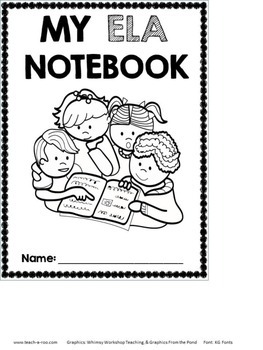ELA Notebook Cover Freebie!