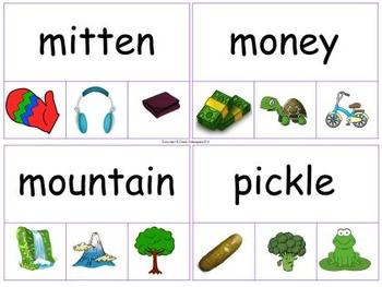 Noun Picture Clue Clip-It Cards