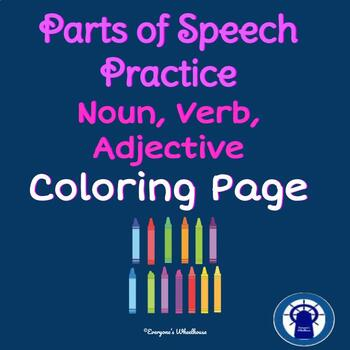 ELA Noun, Verb, Adjective Coloring Practice