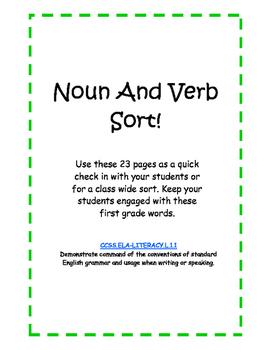 ELA Noun and Verb Sort