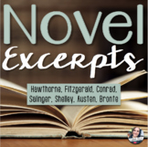 ELA Novel Excerpts and Analysis Questions - 7 Famous Novels