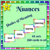 Nuances Vocabulary Card Sets- Shades of Meaning