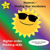 Nuances Worksheets - Shading Your Vocabulary