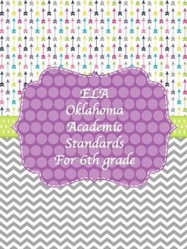 ELA Oklahoma Objectives for 6th grade