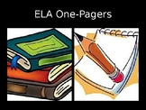 ELA One Pager PowerPoint