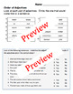 ELA Order of Adjectives Packet - 5 Pages of Practice!  GRAMMAR