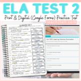 ELA PRACTICE TEST 2 SPELLING-GRAMMAR-PUNCTUATION PRINT DIG