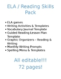 ELA Pack - Reading, Writing, Games, & More!