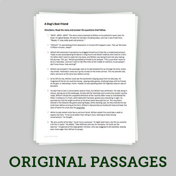 Common Core ELA Paired Passage Assessment