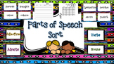 ELA - Parts of Speech Word Sort - Grades 4-6