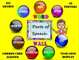 Grammar: Parts of Speech Word Wall 50 ELA Common Core Aligned Posters. THE BEST!