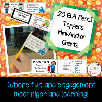 ELA  Pencil Topper Mini Anchor Charts