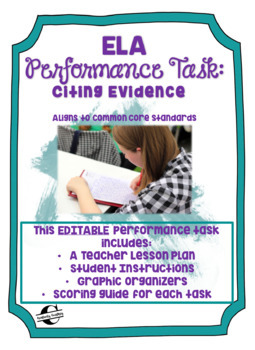 ELA Performance Task: Citing Evidence