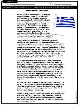 ELA Performance Task - Greek Democracy