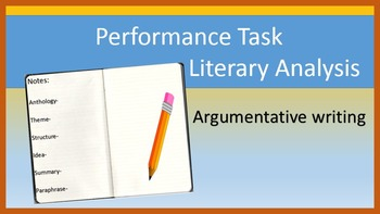 ELA Performance Task: Literary Analysis