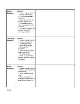 Math Performance Task Planner