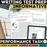ELA Performance Task SBAC Test Prep {Basketball}