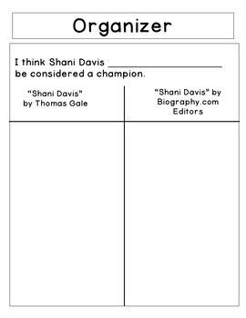 ELA Performance Task - Third Grade - Opinion Writing (Shani Davis)