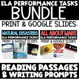 ELA Performance Tasks Writing Prompts - Google Slides™ Distance Learning BUNDLE