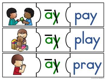 Picture Word Puzzles - Regular Vowel Teams
