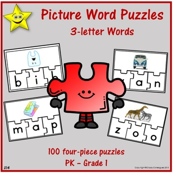 Picture word puzzles three letter words by classy colleagues tpt picture word puzzles three letter words expocarfo Image collections