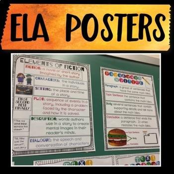 ELA Posters!  6 Total!