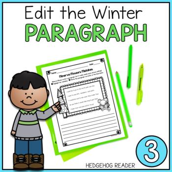 ELA Practice - Edit the Winter Paragraph CCSS Printable