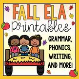ELA Printables & Worksheets-Fall Themed!