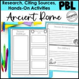 Ancient Rome Inquiry Project With Lapbook and Research Report