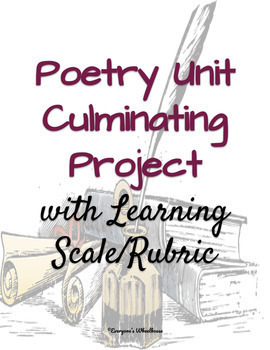 ELA Projects Bundle: Romeo and Juliet and Poetry Units Culminating Projects