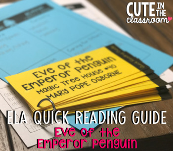 ELA Quick Reading Guide: Eve of the Emperor Penguin (Magic Tree House #40)