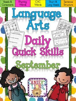 ELA Quick Skills Pack for September