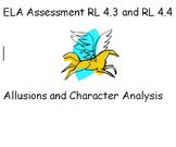 PARCC- Like ELA Quiz - RL 4.3 and RL 4.4 - Allusions and Character Analysis