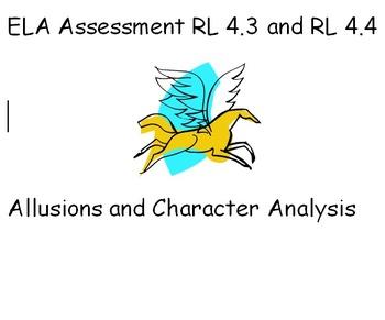 PARCC- Like ELA Quiz - RL 4.3 and RL 4.4 - Allusions and C