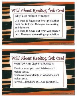 CCSS ELA READING TASK CARDS  Summarize Analyze Evaluate Infer Predict