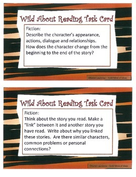 CCSS ELA READING TASK CARDS  Summarize Analyze Evaluate Infer Predict
