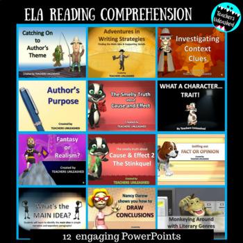ELA Reading Comprehension PowerPoint Bundle