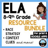 ELA Reading Comprehension & RACE Strategy Writing Bundle G