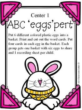 ELA / Reading Easter Centers